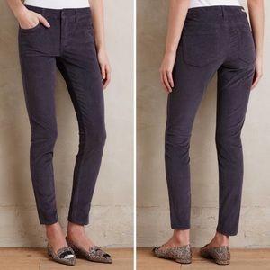 Pilcro Gray corduroy Stet cords skinny pants